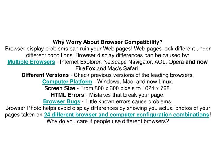 Why Worry About Browser Compatibility?