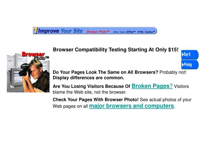 Browser Compatibility Testing Starting At Only $15!
