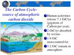 the carbon cycle source of atmospheric carbon dioxide