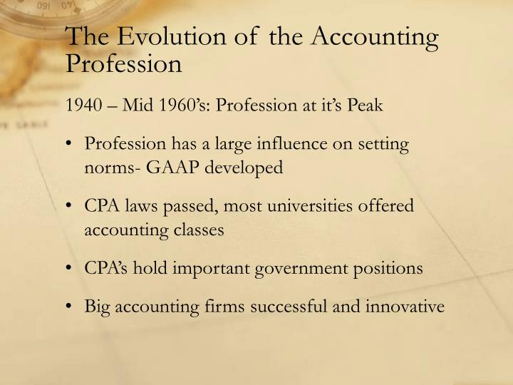 the evolution of the accounting profession Accounting evolution, willoughby, new south wales 209 likes evo accounting.
