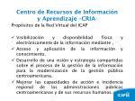 centro de recursos de informaci n y aprendizaje cria10