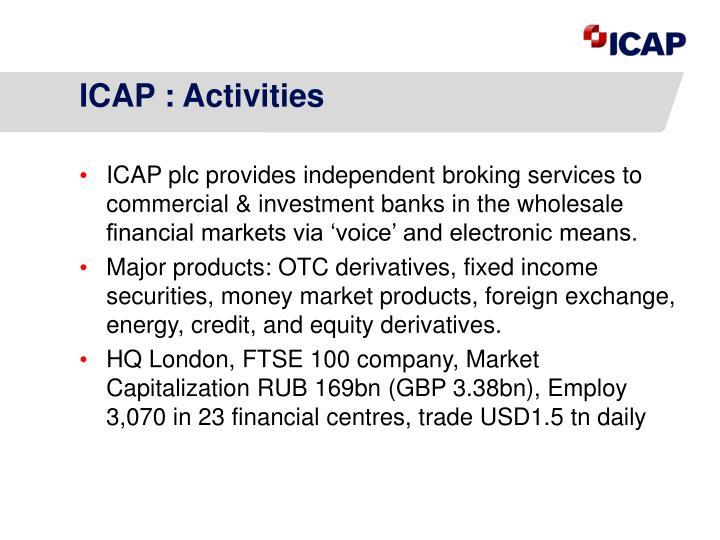 ICAP : Activities