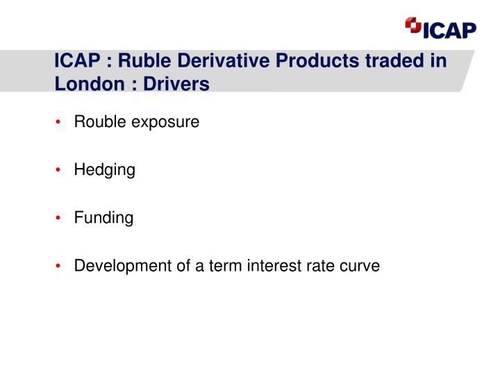 ICAP : Ruble Derivative Products traded in London : Drivers