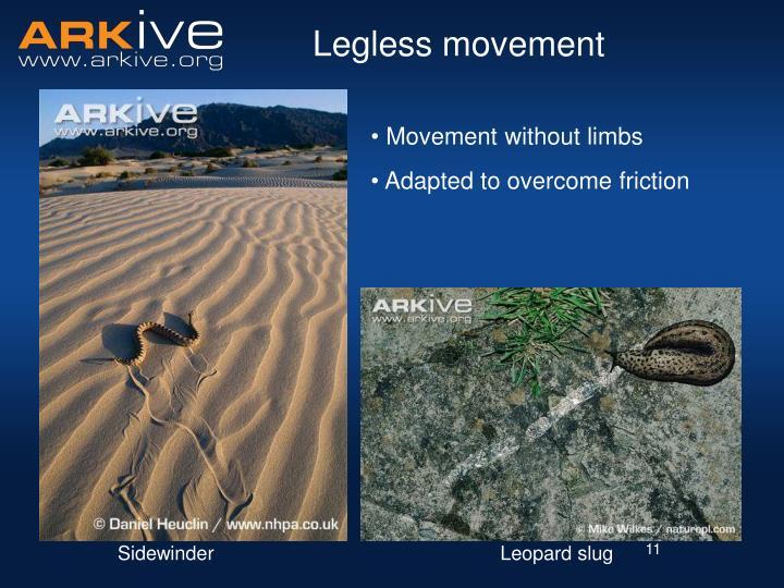 Legless movement