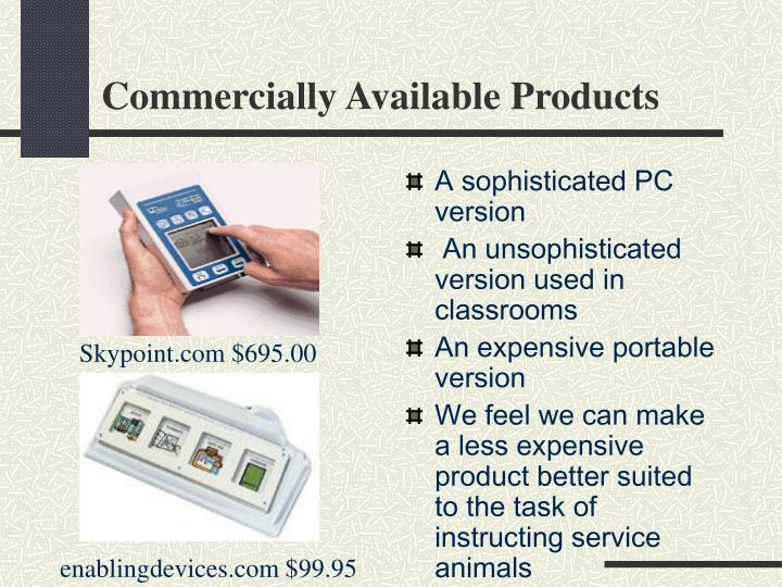 Commercially available products