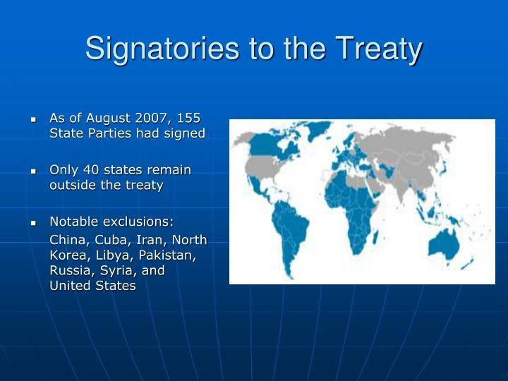 Signatories to the Treaty