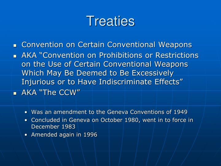 Treaties