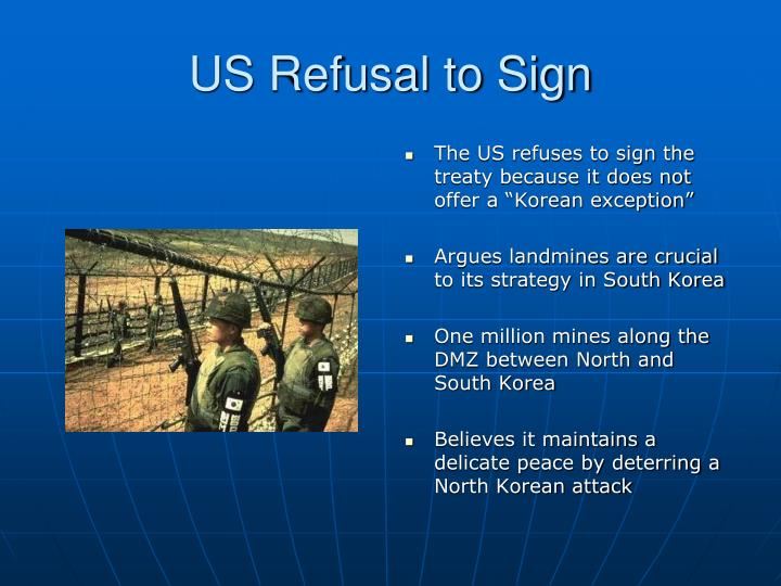 US Refusal to Sign