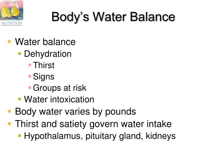 Body's Water Balance