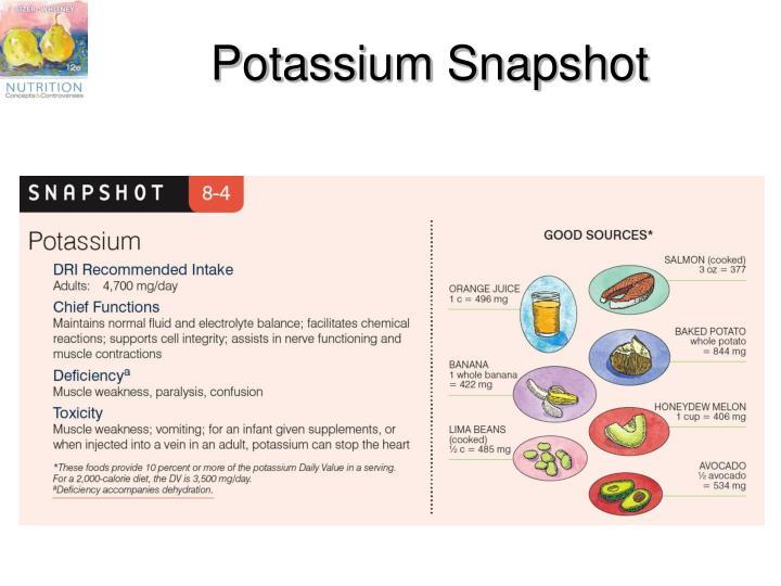 Potassium Snapshot