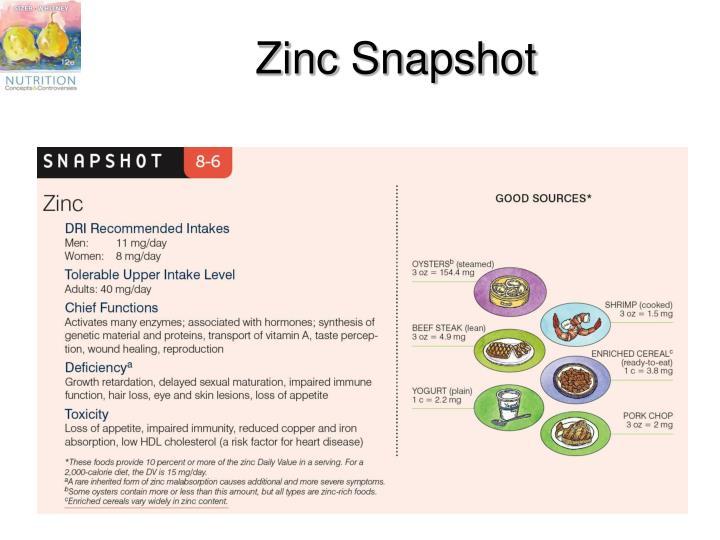 Zinc Snapshot