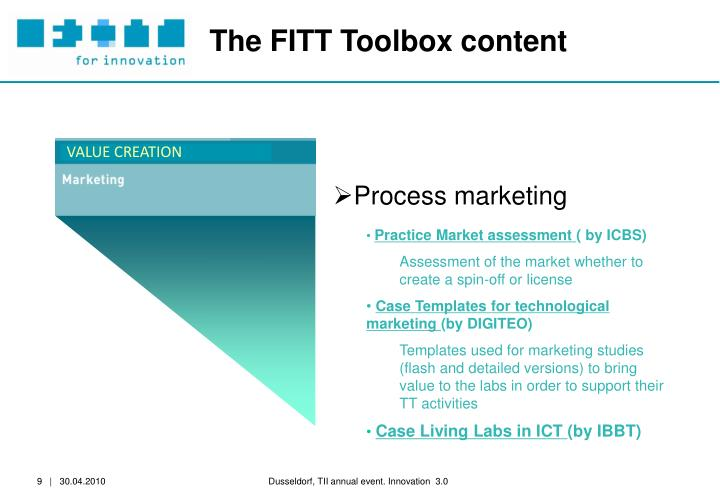 The FITT Toolbox content