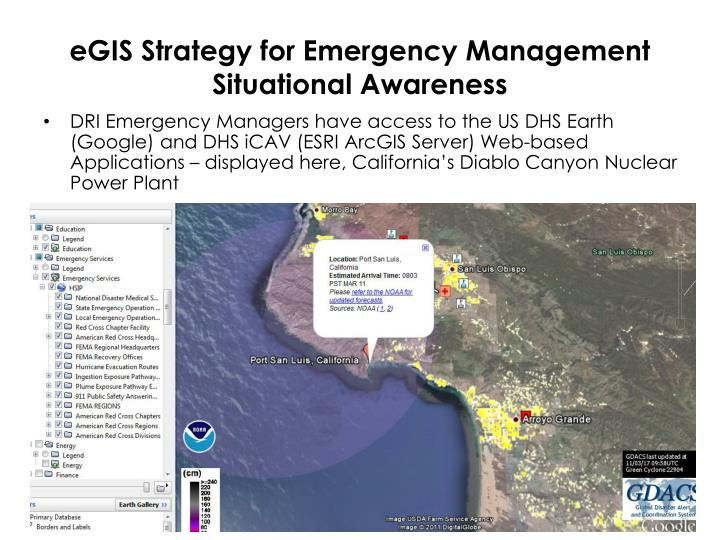 eGIS Strategy for Emergency Management Situational Awareness