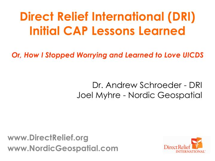 Direct Relief International (DRI)
