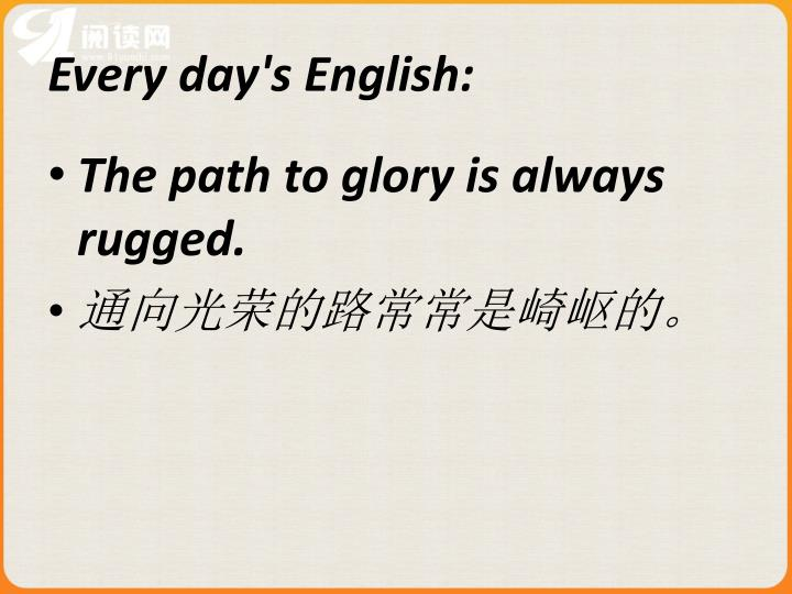 Every day's English: