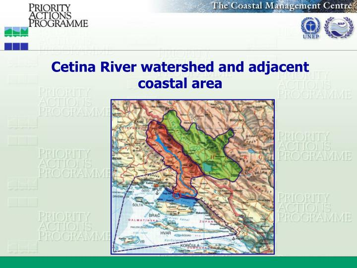 Cetina River watershed and adjacent coastal area