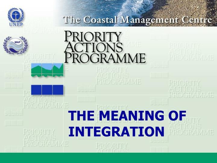 THE MEANING OF INTEGRATION
