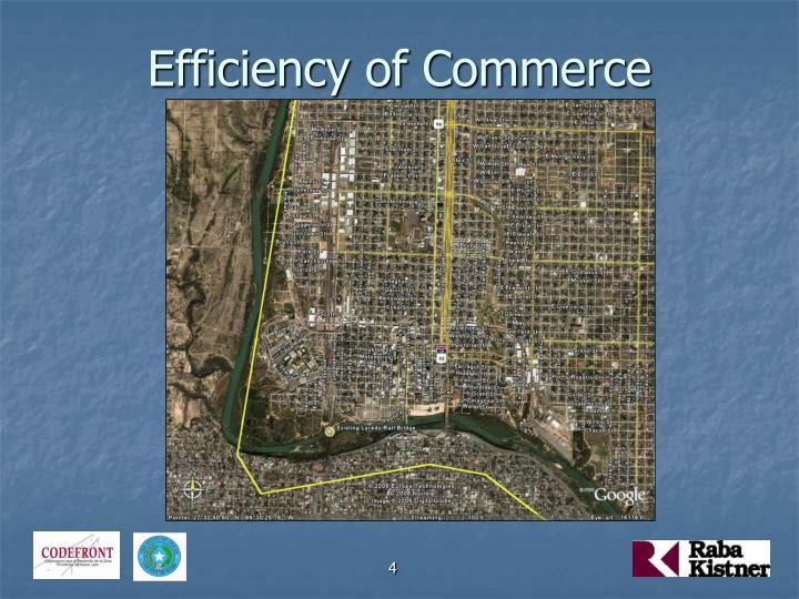 Efficiency of Commerce