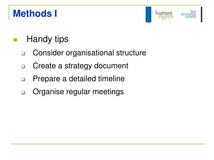 Methods I