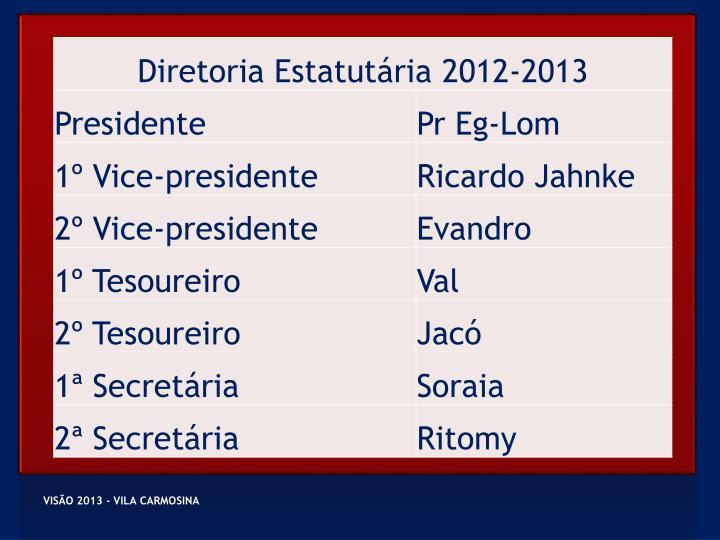 VISÃO 2013 - VILA CARMOSINA