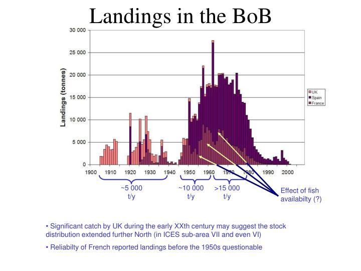 Landings in the BoB