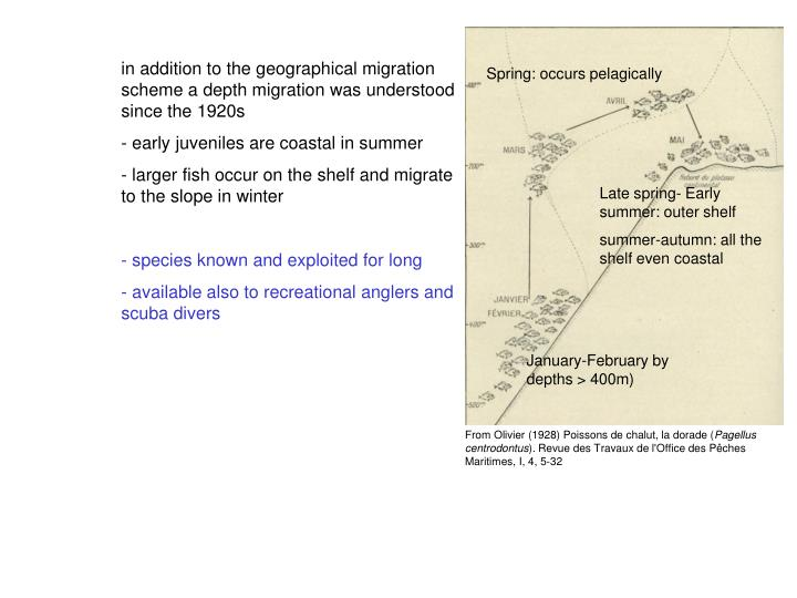 in addition to the geographical migration scheme a depth migration was understood since the 1920s