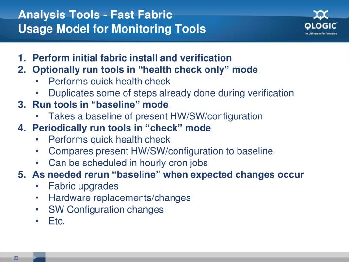 Analysis Tools - Fast Fabric