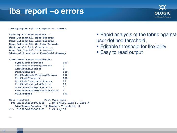 iba_report –o errors