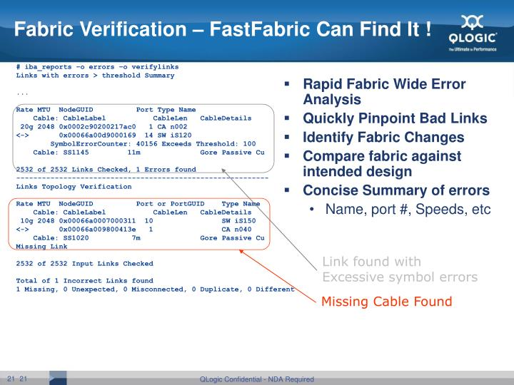 Fabric Verification – FastFabric Can Find It !