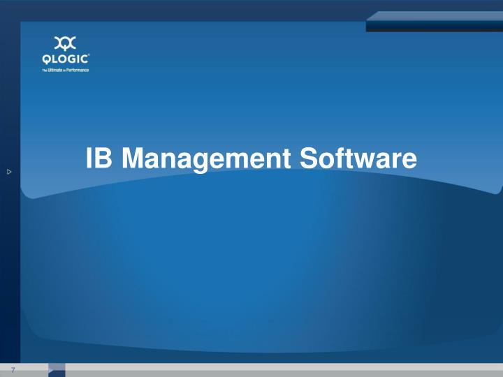 IB Management Software