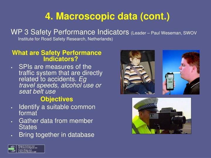 4. Macroscopic data (cont.)