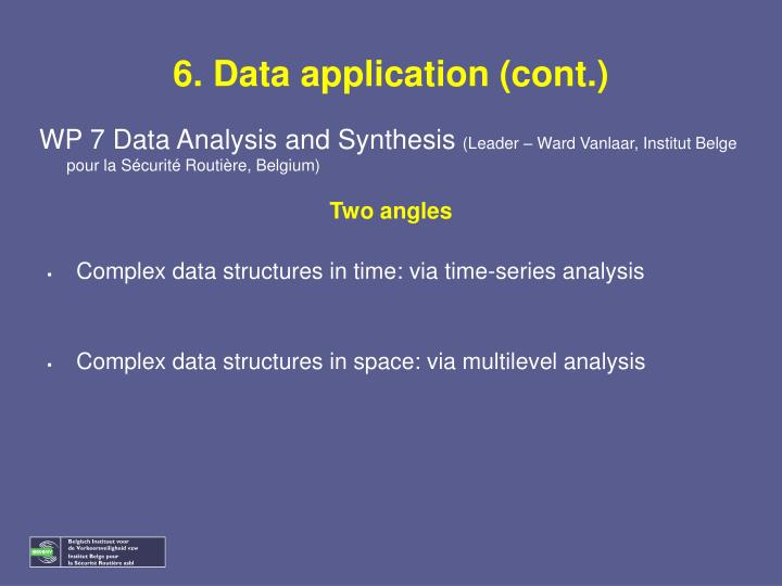 6. Data application (cont.)