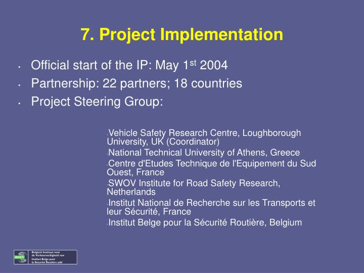 7. Project Implementation
