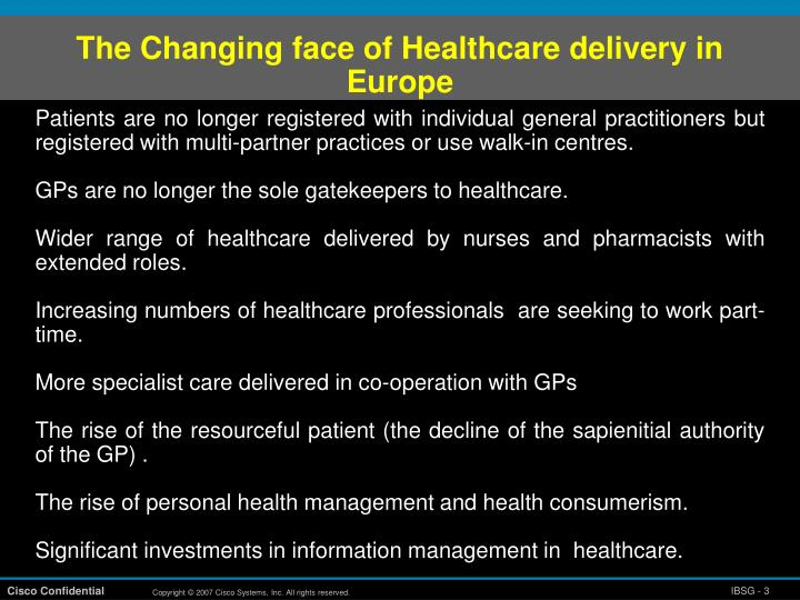 The Changing face of Healthcare delivery in Europe