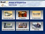 areas of expertise verticals