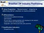 brazilian sw industry positioning