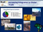 increasing integration to global trade