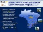 softex brazil s national software export promotion program