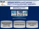 software solutions and it services brazil s competitive advantages sustainability