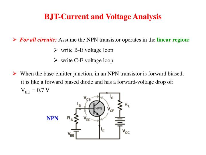 BJT-Current and Voltage Analysis