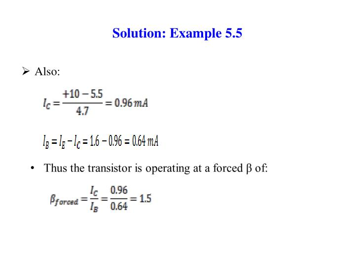 Solution: Example 5.5