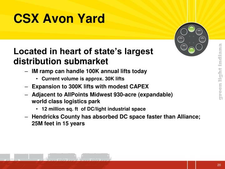 CSX Avon Yard