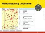 manufacturing locations