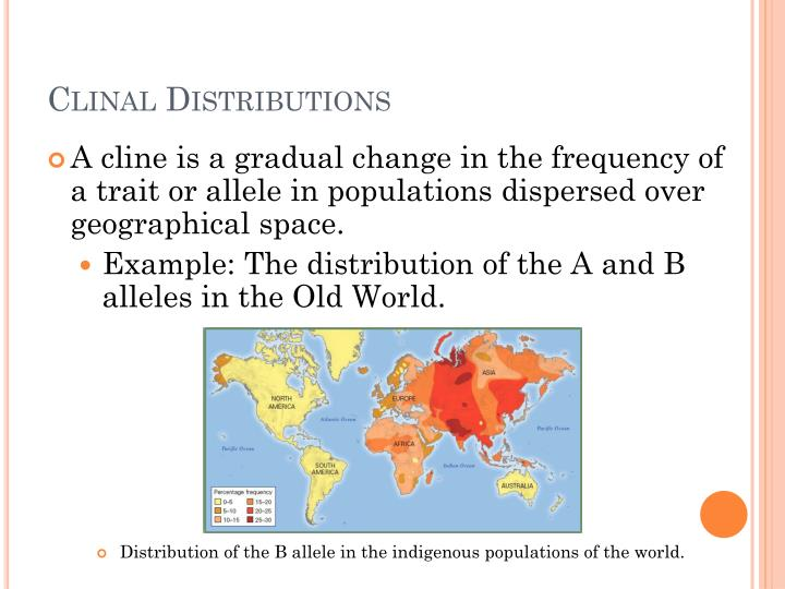 Clinal Distributions