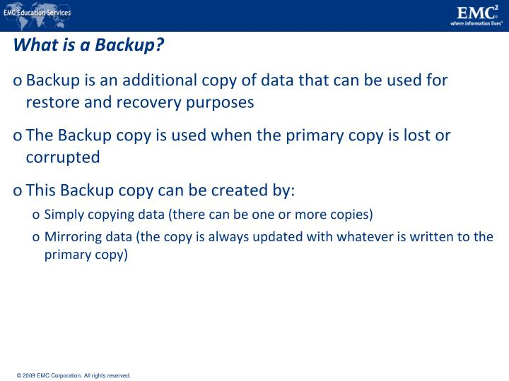 What is a Backup?