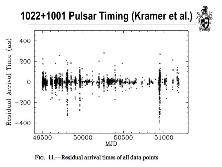1022+1001 Pulsar Timing (Kramer et al.)