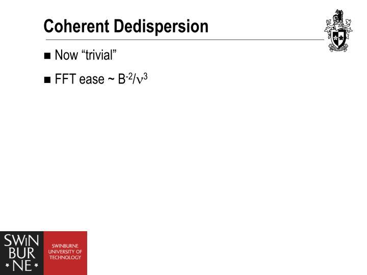 Coherent Dedispersion