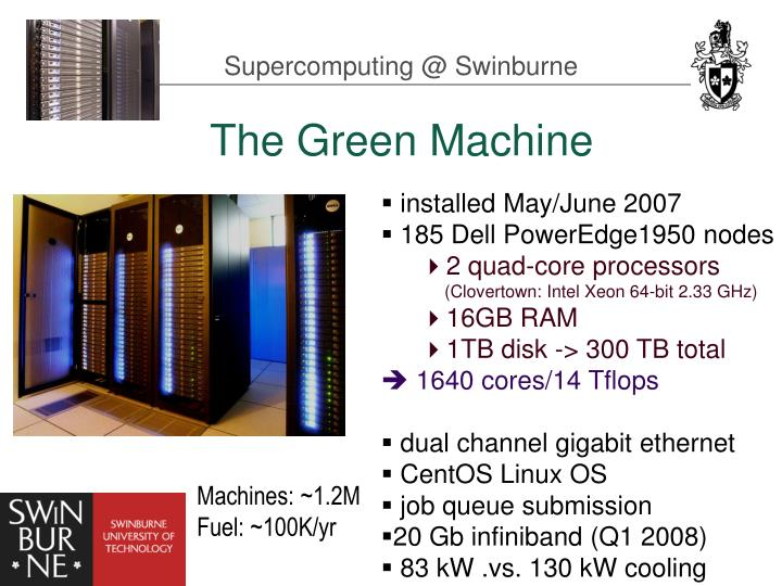 Supercomputing @ Swinburne