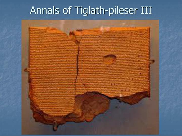 Annals of Tiglath-pileser III