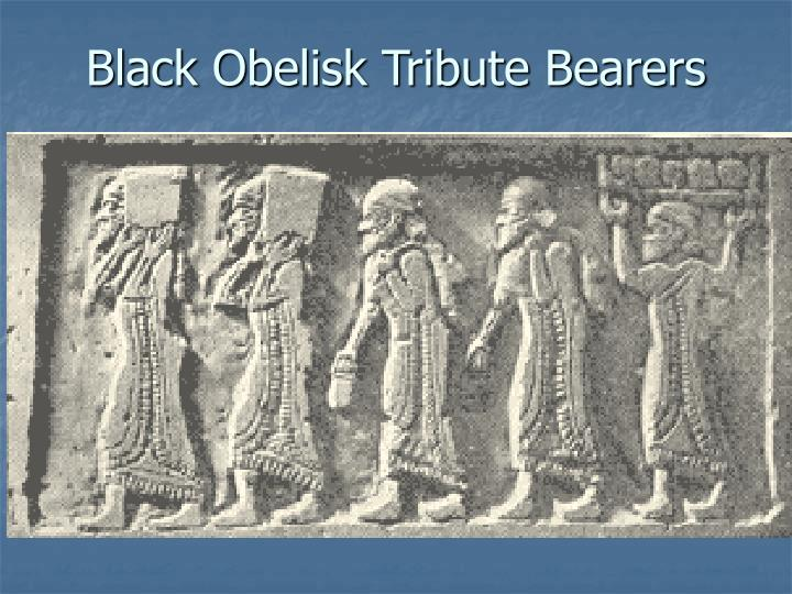 Black Obelisk Tribute Bearers